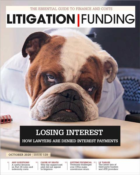 Litigation Funding Cover Oct 2020