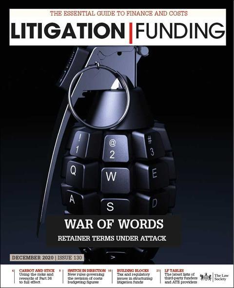 Litigation Funding Cover Nov 2020