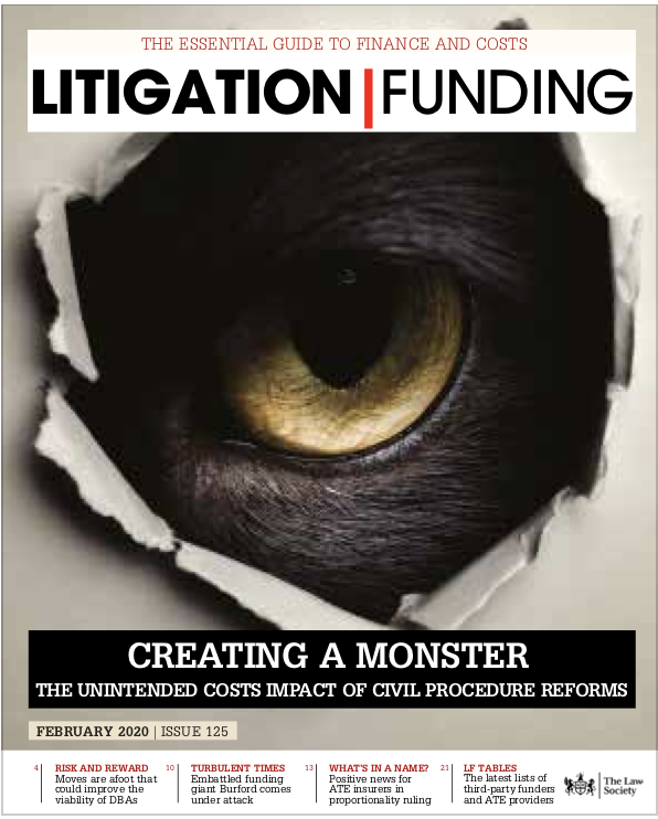 Litigation Funding Cover Feb 2020